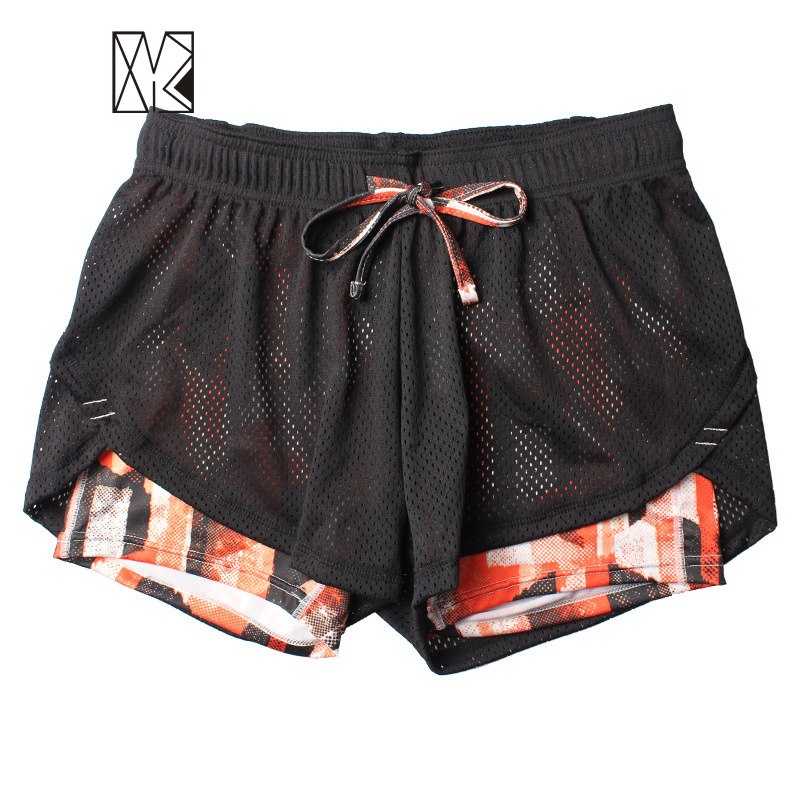 buy summer double layer shorts women skinny fitness shorts women elastic casual. Black Bedroom Furniture Sets. Home Design Ideas