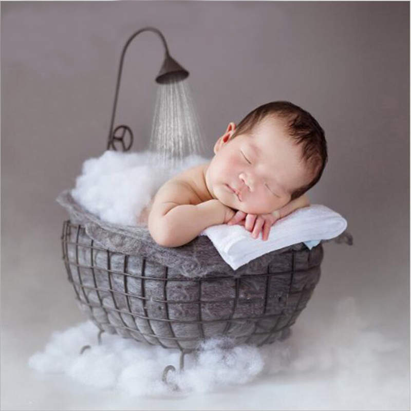 Newborn Posing Basket Shower Baby Photo Shoot Studio Props Baby Photography Bathtub Newborn Photography Accessories ...