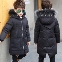 2018 Children's Down Jacket Children's Parkas Coat Winter Children's Kids Boys' Windproof Down Warm Winter Coat 120 160