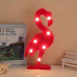3D Flamingo Licht LED Nacht Ananas Schreibtisch Lampe Nacht licht Festival Party Weihnachten Dekoration Beleuchtung Kinderzimmer dedor lampe