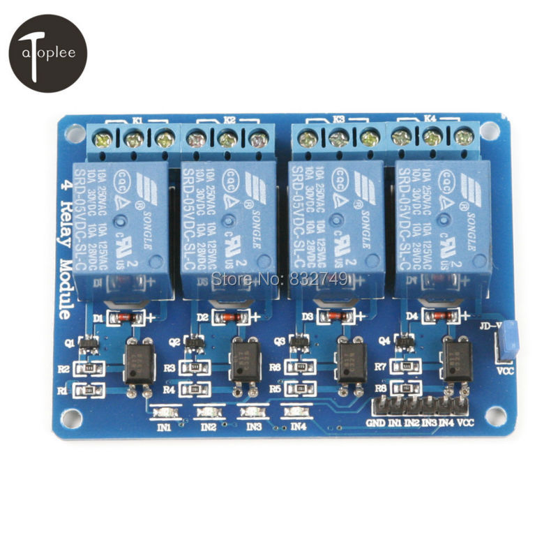 1 PCS 4 Channel Relay Module 4-Channel Relay Control Board with Optocoupler Relay Output 4 Way Relay Module for Arduino 4 channel relay module extension board for arduino