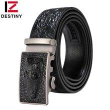 DESTINY Crocodile Belt Designer Belts Men High Quality Male Genuine Leather Strap Man Luxury Famous Brand Automatic Cowather New