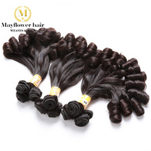 "Mayflower Double drawn Funmi Hair Candy curl or spiral curl for Afro women 1/2/3/4 bundles mixed length 8""-18"" Remy hair weft(China)"