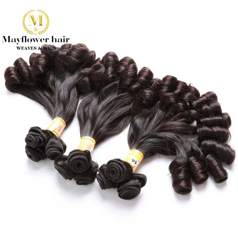 Mayflower Double Drawn Funmi Hair Candy Curl Or Spiral Curl For Afro Women 1/2/3/4 Bundles Mixed Length 8