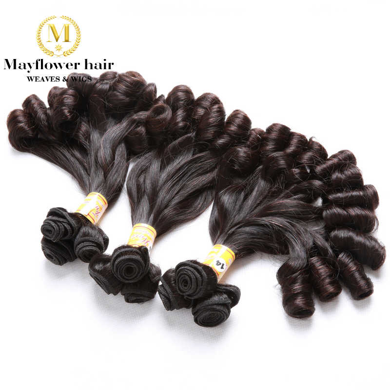 "Mayflower Double drawn Funmi Hair Candy curl or spiral curl for Afro women 1/2/3/4 bundles mixed length 8""-18"" Remy hair weft"