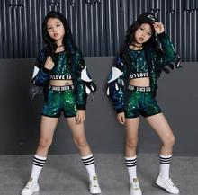 Children Jazz Hip Hop Dance Clothes Modern Fashion Stage Ballroom Kids Sequins Dancing Costumes Girls sports Suit Outfits boys modern jazz dancewear outfits kids hip hop party ballroom dance costumes sweatpants hoodie costumes tracksuit outfits