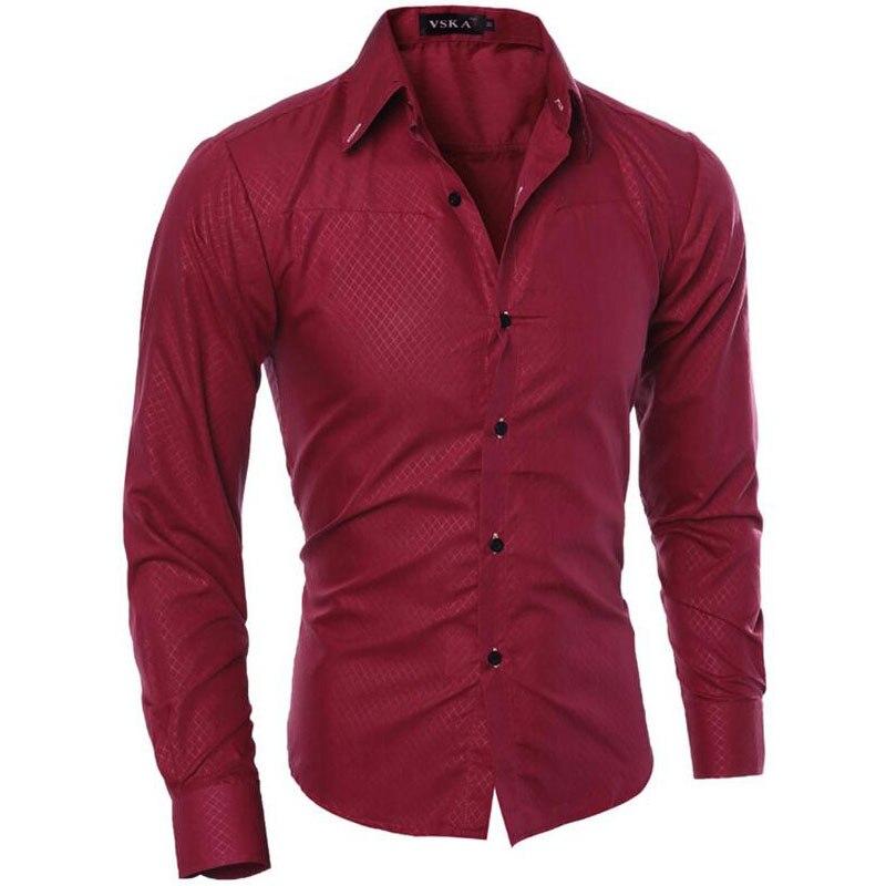 De los hombres de la moda 2019 nueva Boutique oscuro camisas a cuadros Casual para hombre marca Social Camisa de manga larga Camisa Masculina M-5XL