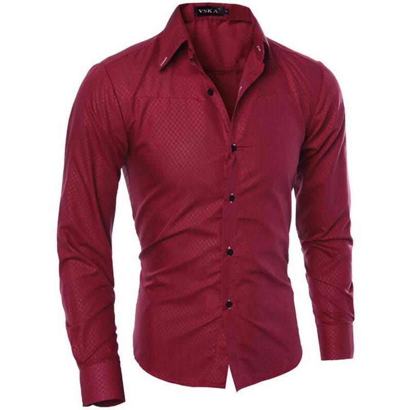 Mode Hommes Chemise 2018 Nouvelle Boutique Obscure Chemises À Carreaux Casual Hommes Sociale Marque Manches Longues Chemise Camisa Masculina M-5XL