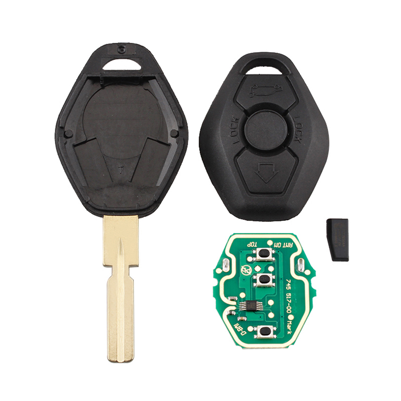 Image 3 - BHKEY HU58 Blade 3Buttons Remote Car key For BMW 315/433Mhz For BMW E38 E39 E46 EWS System ID44/PCF7935 Chip Uncut Blade-in Car Key from Automobiles & Motorcycles