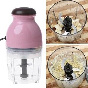 Image 3 - 300W Eu Plug Mini Electric Meat Grinder Food Processor Vegetable Fruit Blender Chopper 600Ml Eu Plug