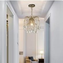 hot deal buy pendant lights modern crystal k9 aisle led pendant lamp pendant fixtures abajour for dining living room bedroom kitchen