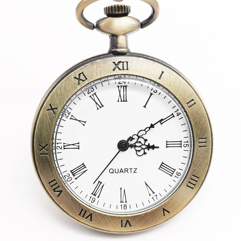 Retro Classic Simple Quartz Men Pocket Watch Pendant Chain Pocket Watches Relogio De Bolso Gift Men Watch