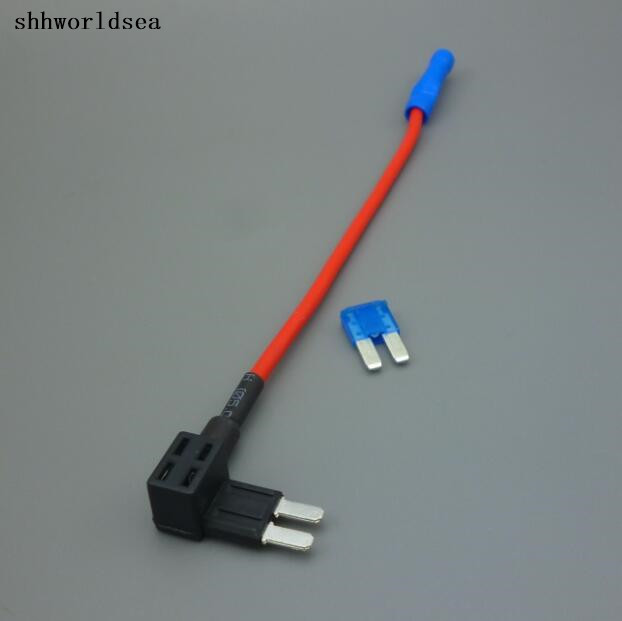 shhworldsea 100pcs Auto micro2 fuse holder car fuses 8MM matching fuse tap 15A