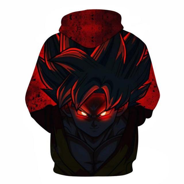FILLMANNS Dragon Ball Z Hoodies Men 3D Printed Pullovers Sportswear Dragonball Super Saiyan Goku Black Zamasu Sweatshirts  1
