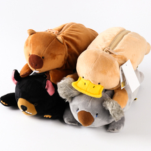 candice guo! cute cartoon plush toy Wombat family koala bear kangaroo platypus soft pencil bag creative kids children gift 1pc