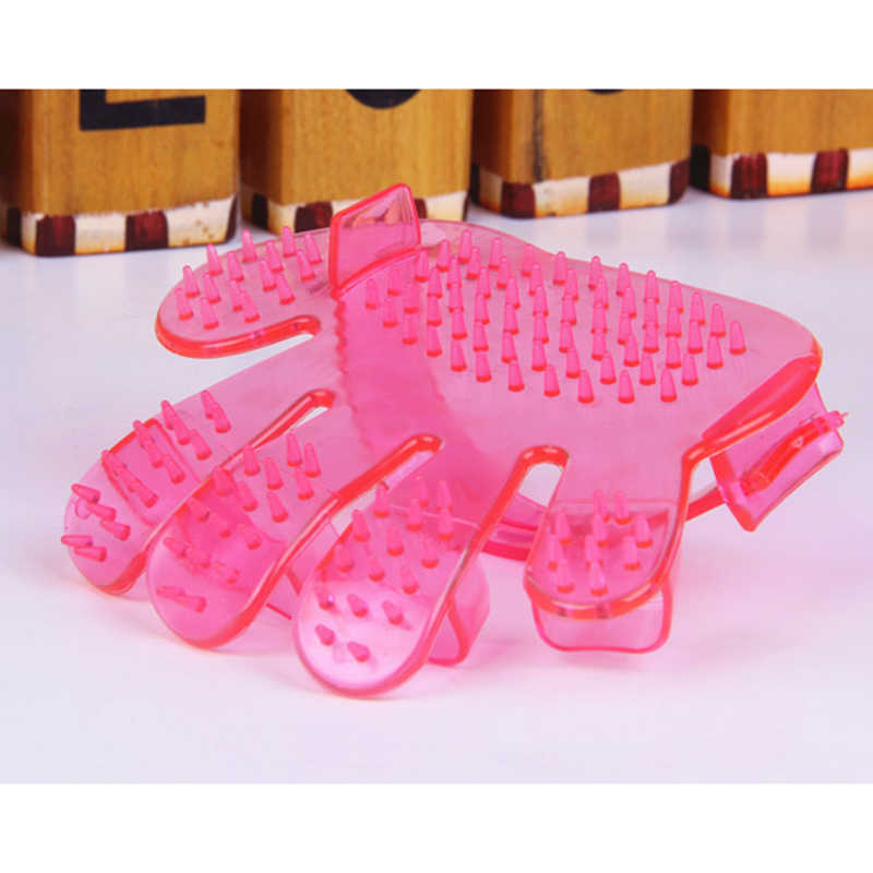 Grooming Comb Blue Pink Pet Dog Cat Shower Bath Brushes Hand Shaped Gloves Brush Comb Hand Pet Tools Pet Clean Combs