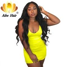 "Aliafee Brazilian Body Wave Bundles Natural Color Brazilian Hair Weave 4 Bundles Deal Non Remy Human Hair Extensions 8""-28"""