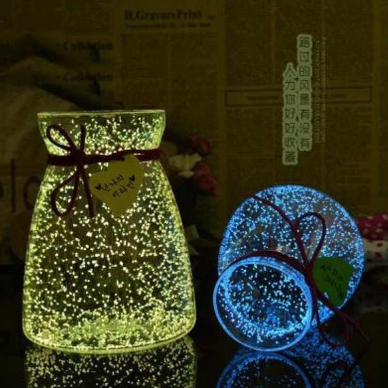 Hoomall Magie Fluorescent Glow In The Dark Leucht Partei Helle Farbe Star Wishing Flasche Partikel Leucht Sand Kind Geschenke