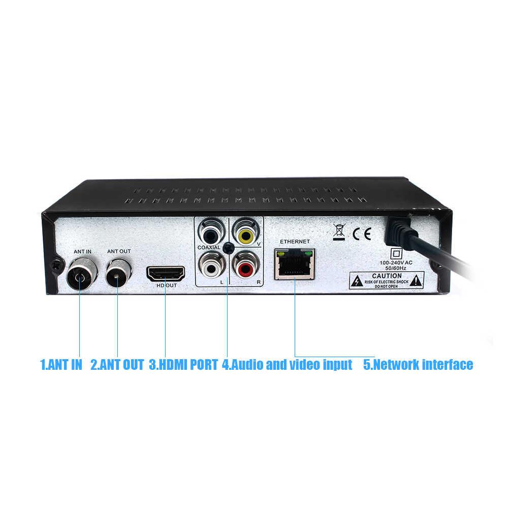 2019 Newest DVB T2 Receiver HD Digital Terrestrial TV Tuner Supports  YouTube MPEG-2/MPEG-4 MP3 H 264 HD 1080p DVB T2 Set Top Box
