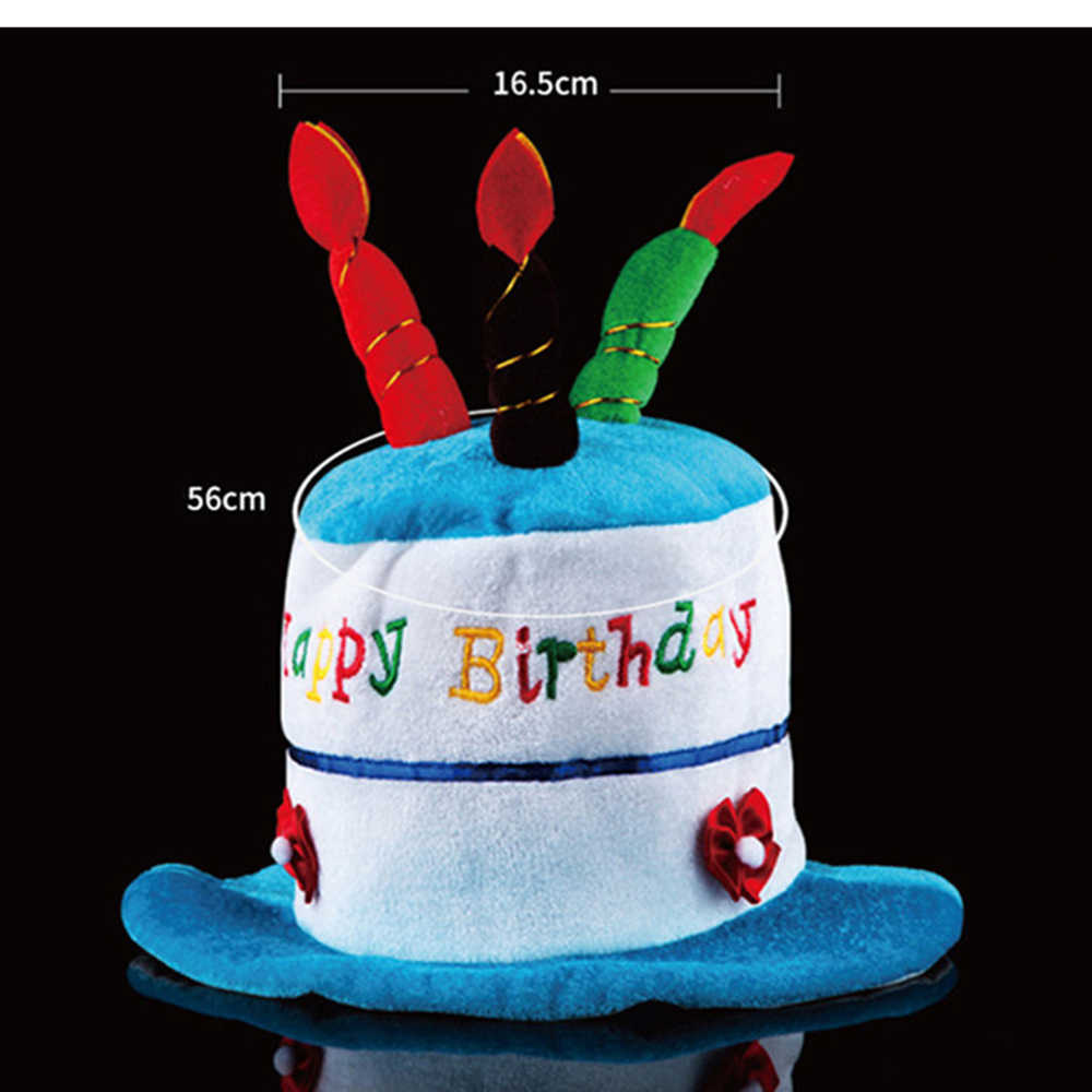 2018 New Funny Happy Birthday Cake Top Hat Novelties Costume Candle Party Cap