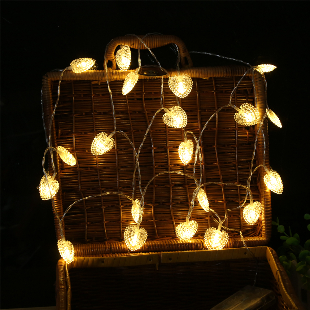 Fairy LightsPearlescent Love Heart  String Light 1.5M-6M,10L/20L/40L63AA6 Room Weding Party Wall Window Home Decoration Children Night Lamp