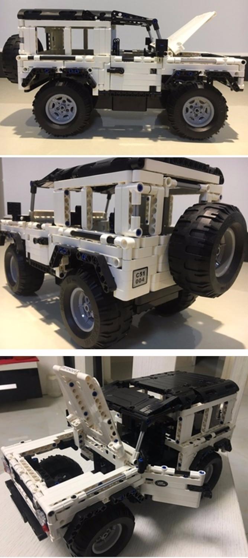 Oyuncaklar ve Hobi Ürünleri'ten Bloklar'de 553 adet teknİk serisi Defender SUV RC araba modeli yapı taşı DIY Off Road araba tuğla oyuncaklar çocuklar için uyumlu LegoED'da  Grup 2