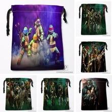 Custom Teenage Mutant Ninja Turtles Drawstring Bags Travel Storage Mini Pouch Swim Hiking Toy Bag Size 18x22cm#0412-03-50
