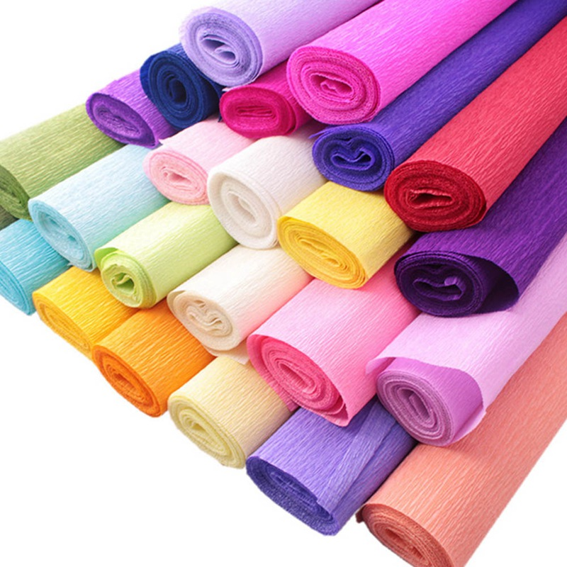 Crepe Paper 3 Metres x 50cm Various Colours for Art /& Crafts Gift Wrapping x 1 Fold Pink