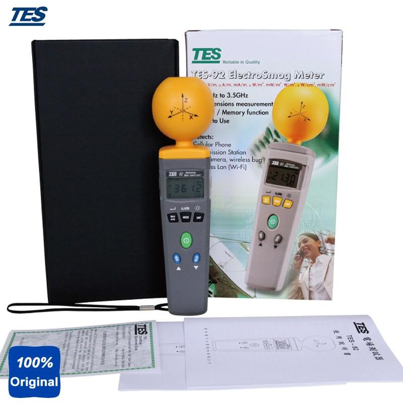 Portable Electromagnetic Radiation Detectors Digital ElectroSmog Tester RF Detector EMF Meter Frequency 50 MHz to 3.5 GHz TES 92