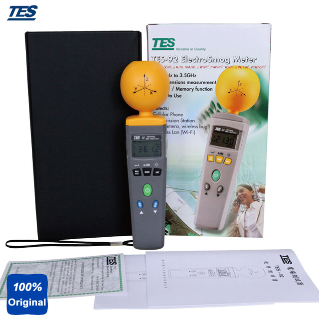 portable electromagnetic radiation detectors digital electrosmogportable electromagnetic radiation detectors digital electrosmog tester rf detector emf meter frequency 50 mhz to 3 5 ghz tes 92