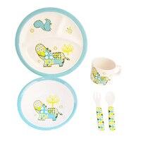 Children Kids Tableware Set Melamine Baby Feeding Plate Bowl Cup Cutlery Flatware Set Infant Dishes BPA Free Plate Baby Feeding