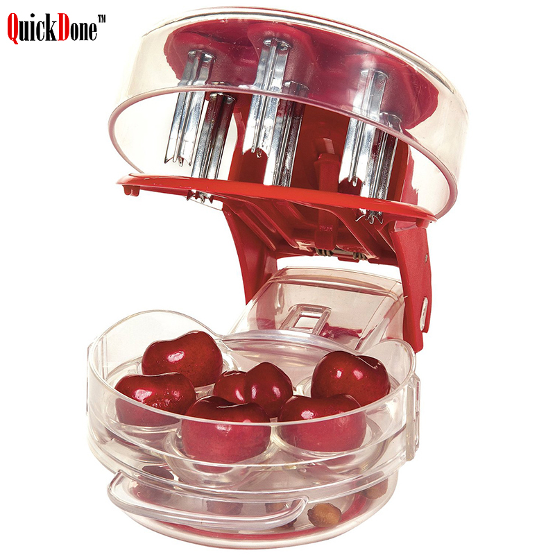 QuickDone Cherry Olive Pit Seed Stone Remover Seed Separator Remove Cherries Fast Removal Bone Kitchen Gadget Fruit Tool AKC6029 gadget