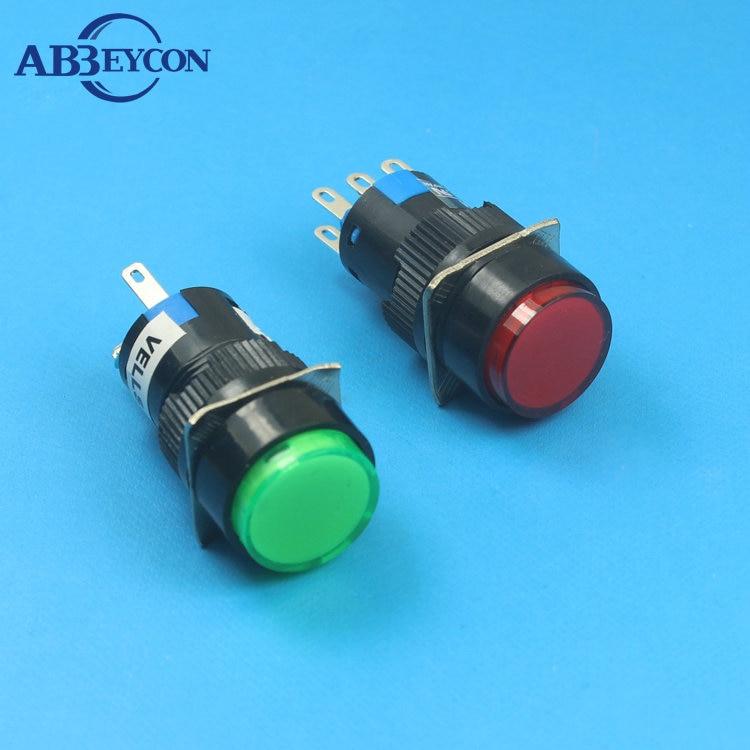 NS252 A16 11ZY N ON ON latching 3A 220V RED 5 PIN 1NO1NC lamp illuminated button