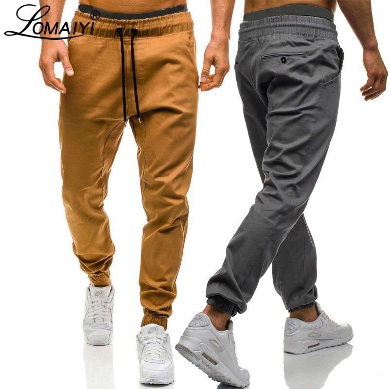 LOMAIYI New Cargo Joggers Pants For Men 2019 Spring/Summer Casual Pants Men's Cargo Trousers Black/Green Jogger Pants Mens BM312