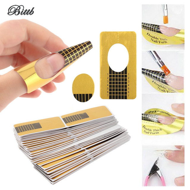 Bittb 100Pc/Lot Nail Extension Curing Guide Paper Crystal French ...