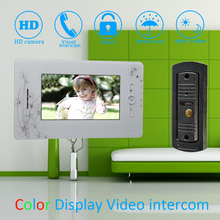 "(1 Set) 7"" Color Monitor Home Garden Improvement Video Door Phone Home Security Digital Doorbell Door Access Control Intercom"