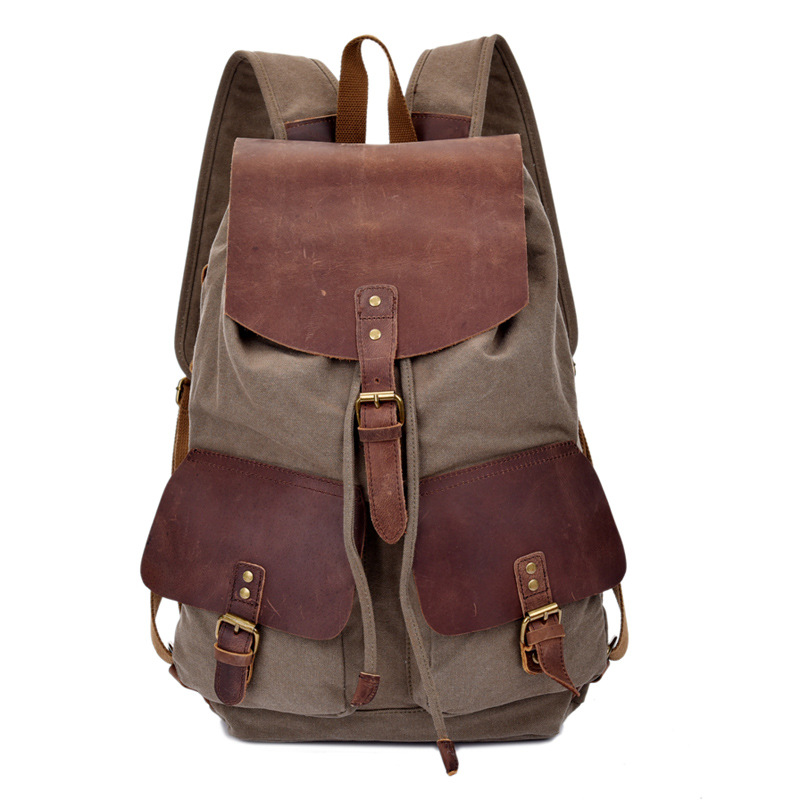 ФОТО Manjianghong Fashion Vintage Canvas backpack  Your Travel Backpacks1511