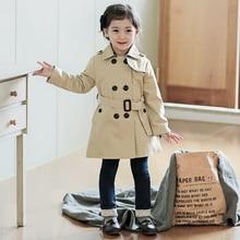 Spring Autumn baby jacket girls coats kids trench children b
