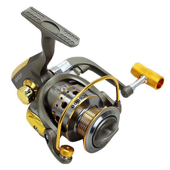 NEW HOT SALES JC7000 FOR BIG FISH Ocean inshore Fresh saltwater ICE FLY CARP spinning reel 10 Ball Bearing wood strengthen KNOB