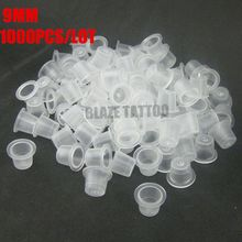 1000PCS Disposable Tattoo Pigments Cups Permanent Makeup Ink Cups Small Size 9MM Tattoo Equipment Accessory IC9