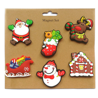 NOEL Christmas Gifts Fridge Magnets Sets PVC Soft Rubber Crafts Customized Logo