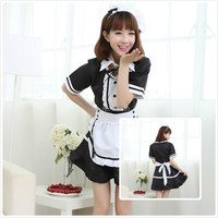4 Set Bow Maid Cosplay Women S Cosplay Maid Costume Cartoon Character Free Shipping Sexy Maid