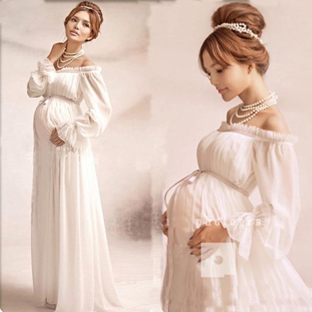 Online Shop 2016 Royal Maternity Lace Pregnant dress for photo shoot ...