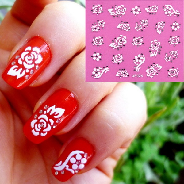2018 New Arrival Promotion Nails Manufacturers Xf Stickers Manicure 3d Nail Accessories Wholesale Xf024