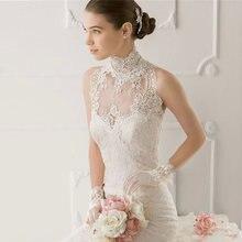 High quality Wedding Lace Shawl Wrap High Collar Muslim Retro Lace Shawl Jacket  Women Bridal Lace Bolero For Wedding Dress 27d935866bf8