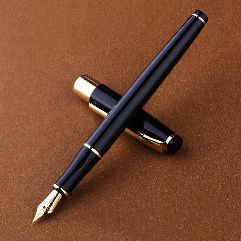 Full Metal Clip Dorata penne di lusso 0.5mm Iraurita Stilografica penna Caneta materiale di Cancelleria scuola forniture dolma kalem 1010
