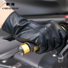 2018 Fashion New product Men's gloves,black mens leather gloves,Simple genuine leather gloves men, Solid gloves leather for men