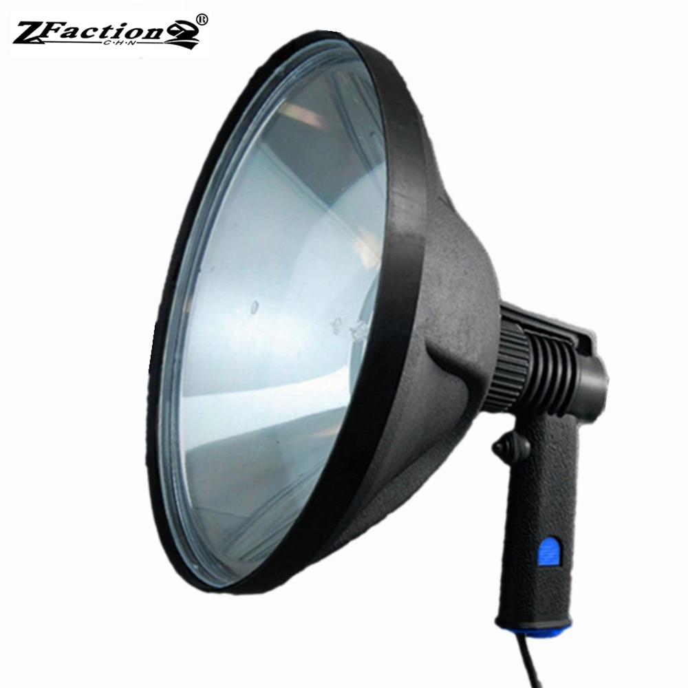 10 1000LM 12V 240mm 100W Halogen Marine Light Handheld Hunting Lights Adjustable Beam Spotlight Waterproof Lamp