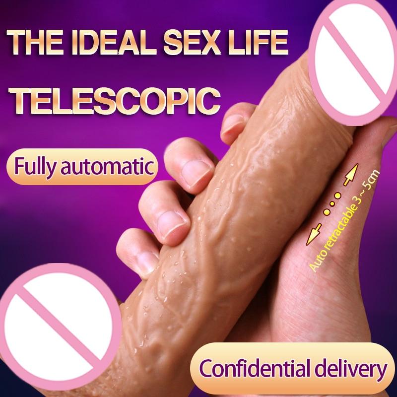где купить Hot Fully Automatic Big Vibration Dildo Realistic Penis Suction Cup Penis Vibrator Women Dildos Penis Adult Sex Toys For Women. по лучшей цене