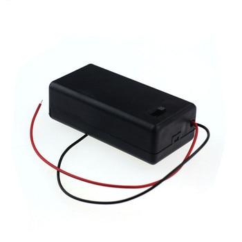 1 ud. Caja de almacenamiento de batería de 9V caja de plástico con interruptor de encendido/apagado de plomo 18650 caja diy power bank 18650 batería titular caja de circuito
